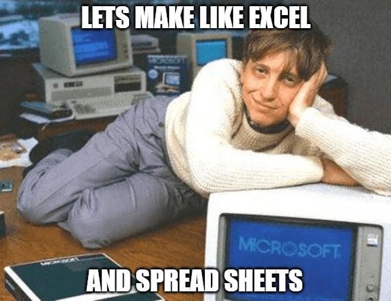 Digital Transformation 90s Bill Gates Spreadsheets