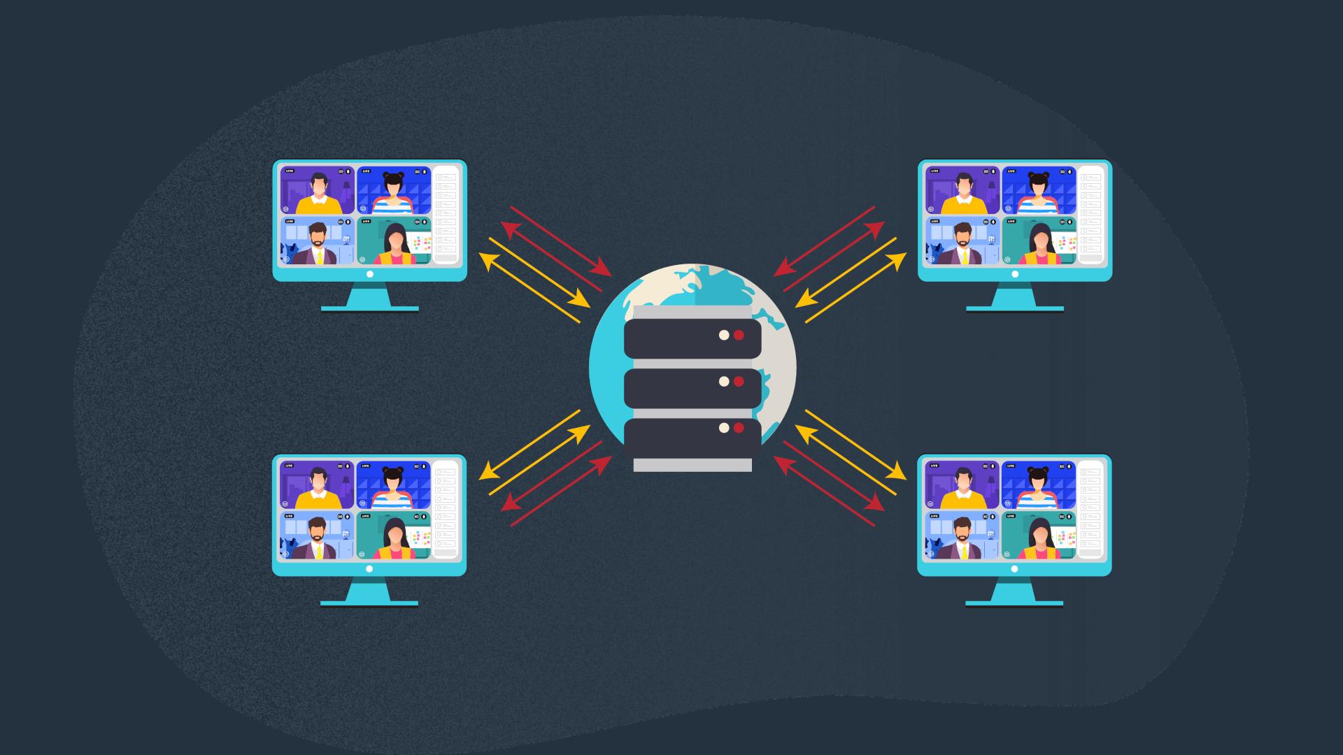 video conferencing app - SFU architecture
