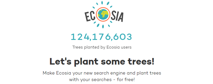 Happy Earth Day Ecosia