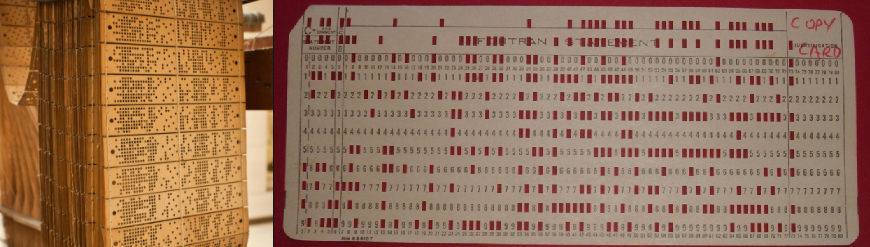 Jacquard punch cards IBM