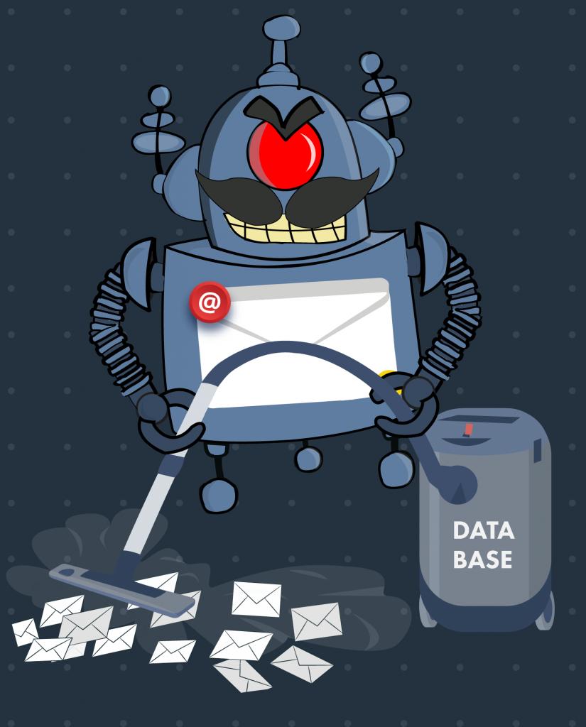 Spambot database gathering