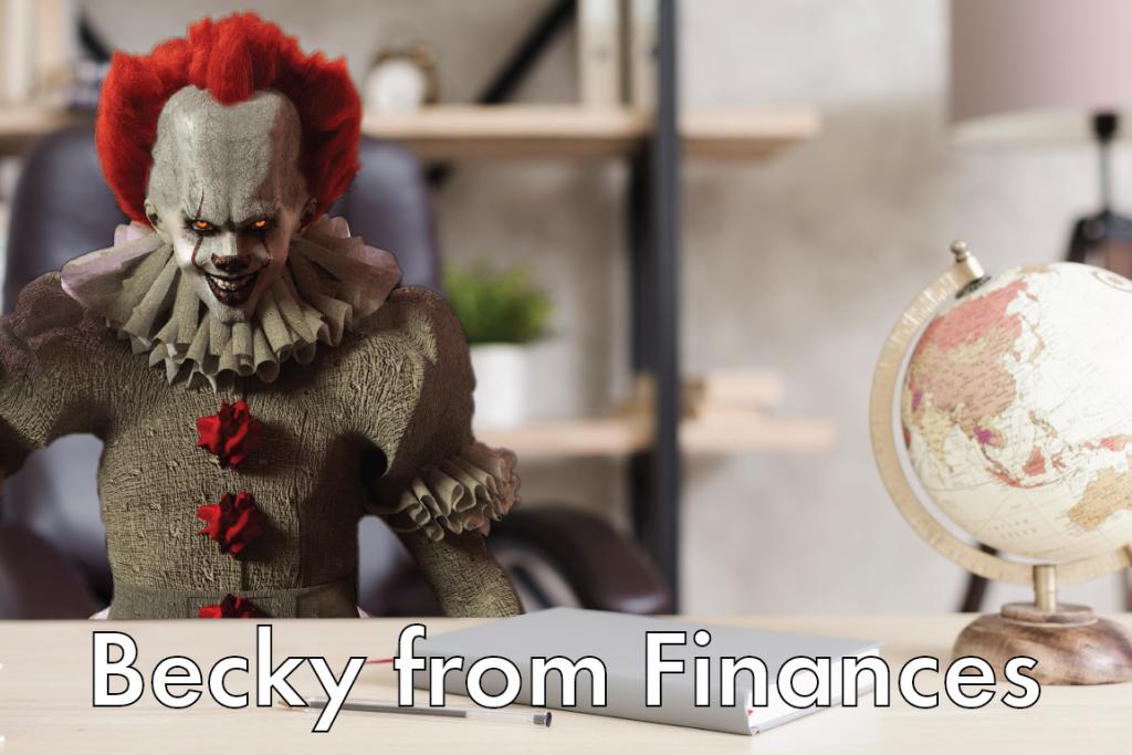 Becky from finances meme