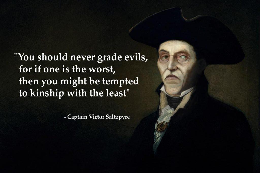 Do not grade evil