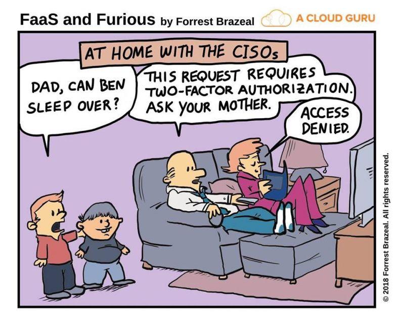 Cybersecurity 2 factor auth comic meme