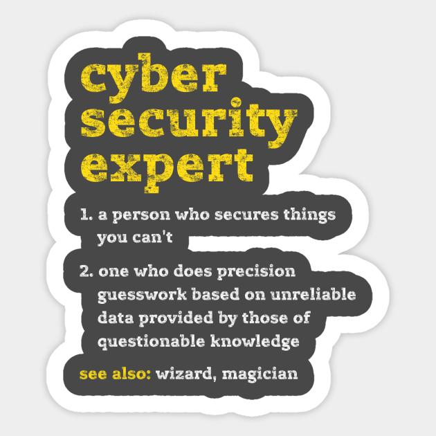 Cybersecurity meme expert