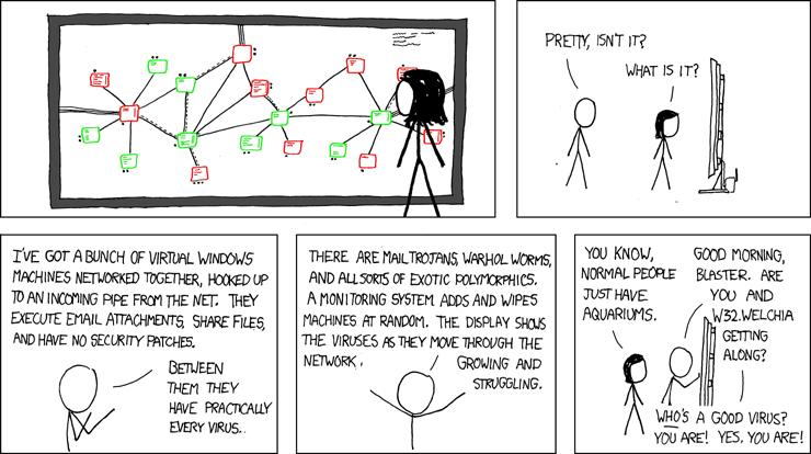 Network Viruses xkcd Cybersecurity