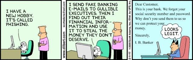 Dilbert Cartoons Phishing