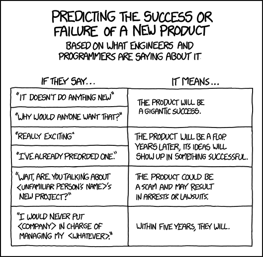 xkcd comic about new products EBS integrator