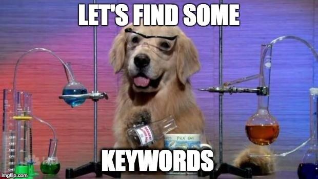 Doggo Keywords and SEO Tools meme