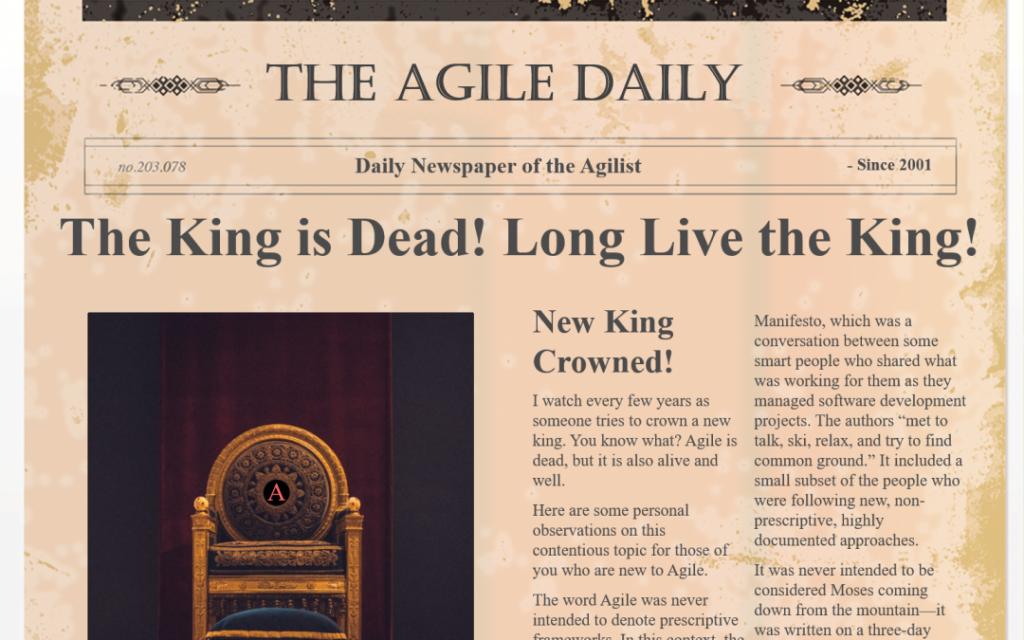 The King is Dead Newsletter meme SEO