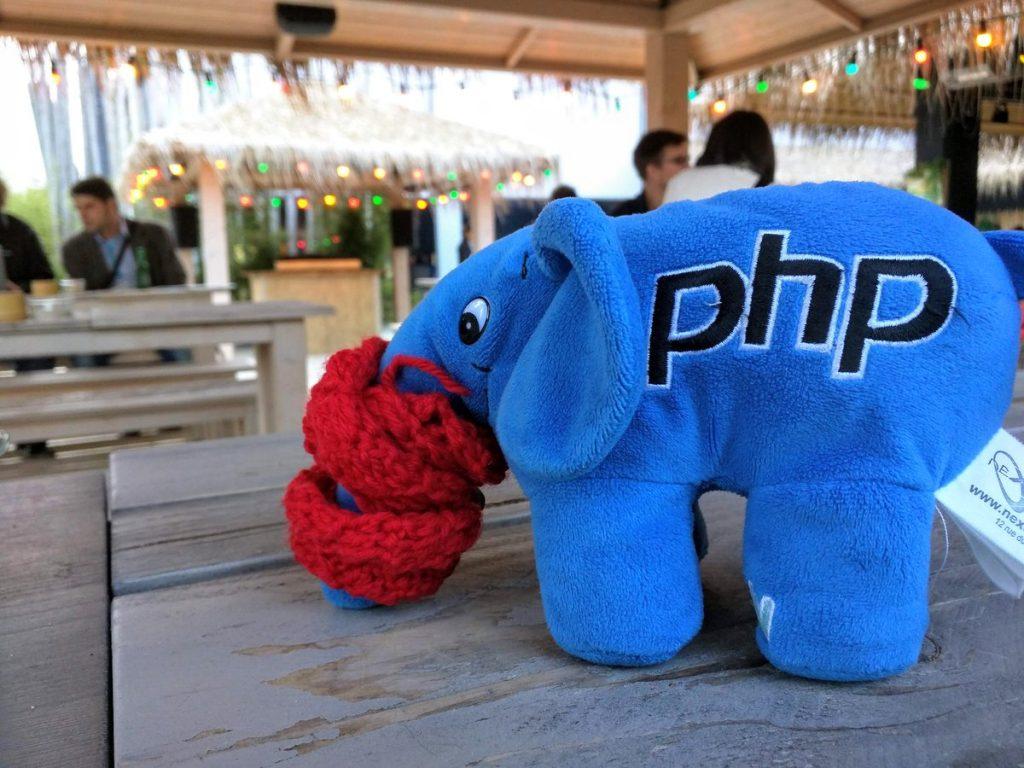 Plushy toy of PHP logo