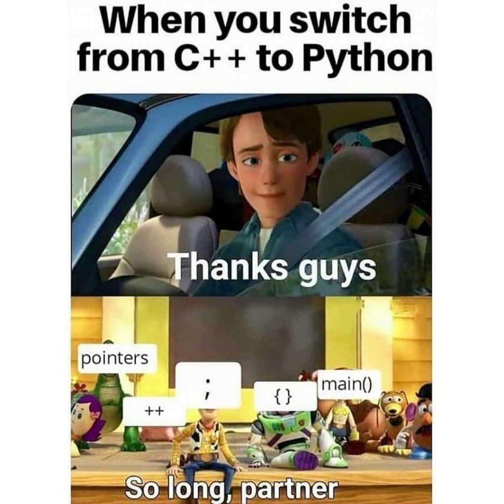 Python syntax meme
