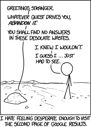 xkcd second page of google comic