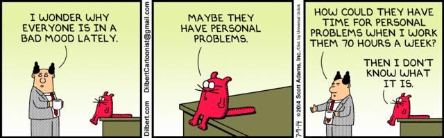 Dilbert Comic on Office Morale